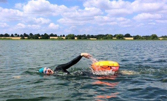 Information étang de Baye - Epreuve de nage en eau libre.
