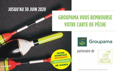 CARTE DE PECHE 2020 : reconduction de l'avantage GROUPAMA !